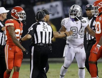 Raiders Marshawn Lynch Ejected For Pushing Official