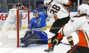 Grant Gets First Hat Trick, Ducks Top Blues 4-1