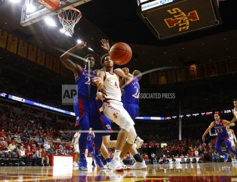 Dotson Scores 20 Points, No. 3 Kansas Routs Iowa State 79-53